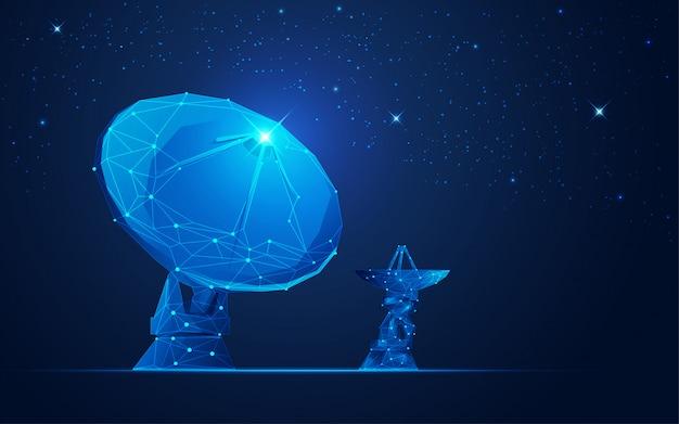 Antena parabólica Vetor Premium
