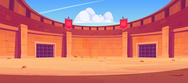 Antiga arena romana para luta de gladiadores Vetor grátis