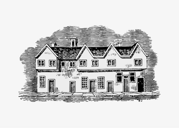 Antiga casa inglesa Vetor grátis