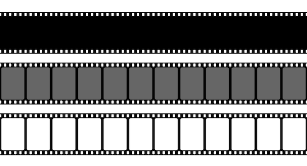 Antigo quadro de tira de filme retrô, filmstrip de cinema. Vetor Premium