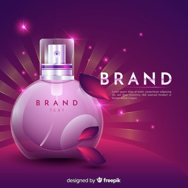 Anúncio cosmético com design realista Vetor grátis