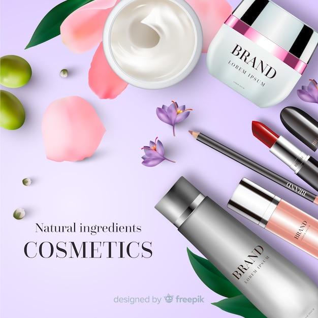 Anúncio cosmético Vetor grátis