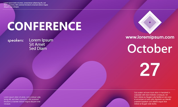 Anúncio da conferência. fundo de negócios Vetor Premium