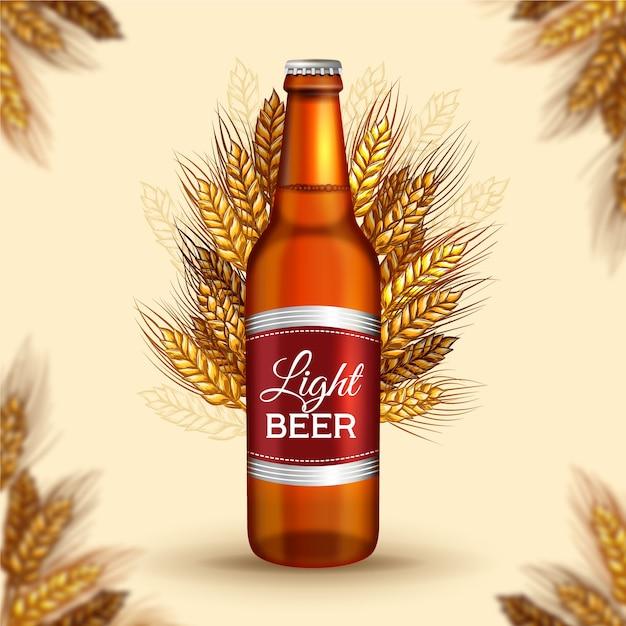 Anúncio de cerveja com ilustração vintage Vetor grátis