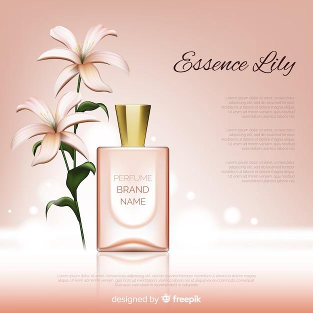 Anúncio de marca de perfume Vetor grátis