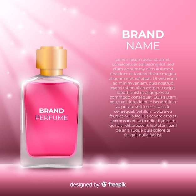 Anúncio de perfume de luxo Vetor grátis
