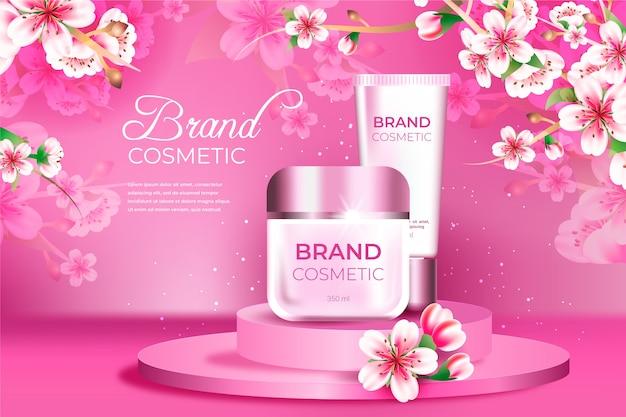 Anúncio de produto em creme cosmético Vetor grátis
