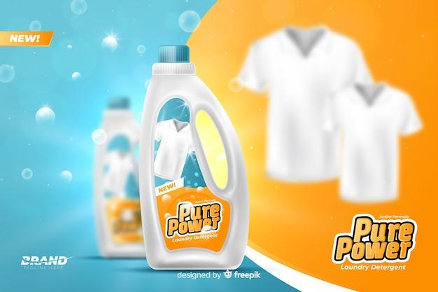 Anúncio de venda de detergente de roupa realista Vetor grátis