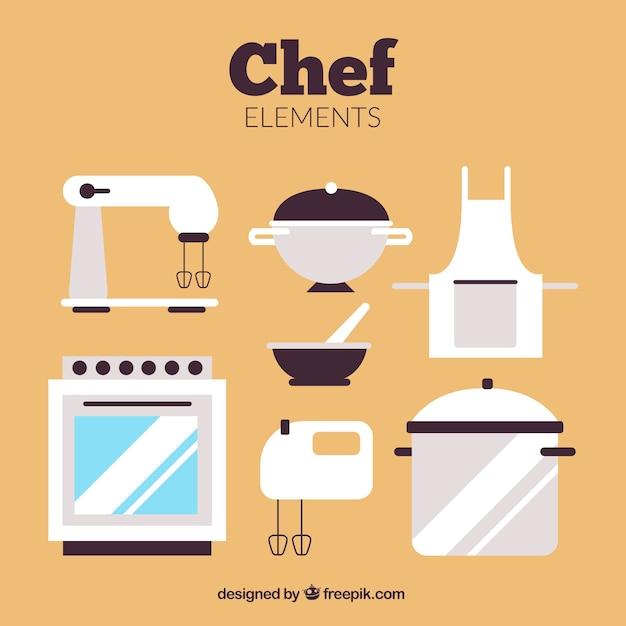Aparelhos de cozinha em design plano Vetor grátis