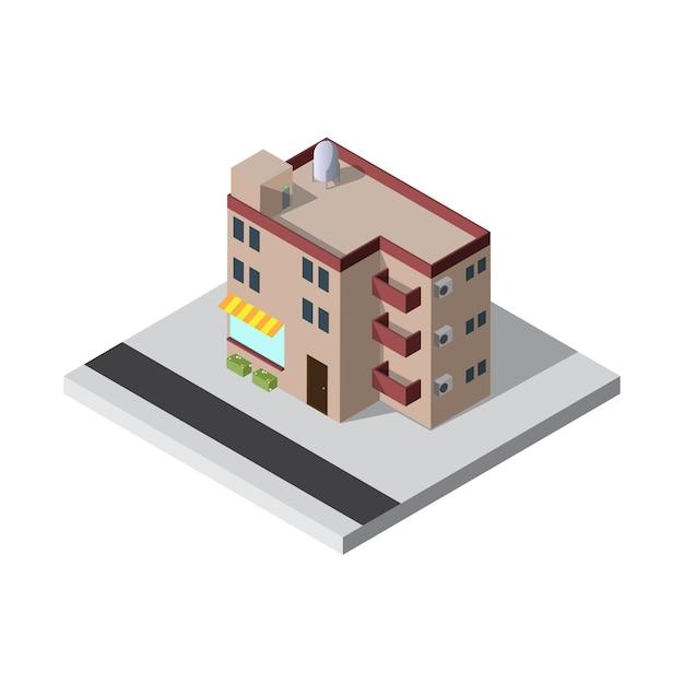 Apartamento isométrico Vetor Premium