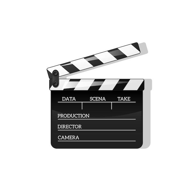 Aplauso preto abrir elemento de objeto preto para fazer filmes Vetor Premium