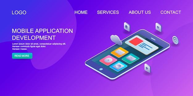 Aplicação móvel Vetor Premium
