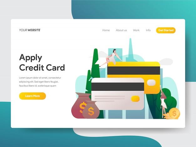 Aplicar cartão de crédito para a página do site Vetor Premium