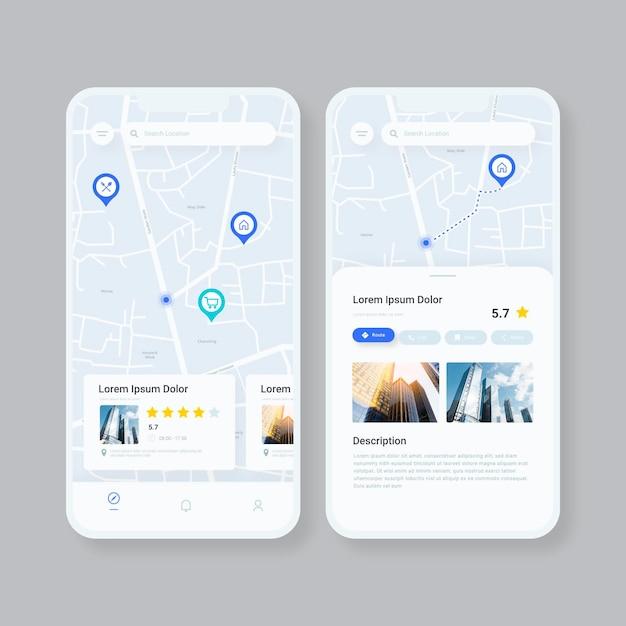 Aplicativo de localização no smartphone Vetor grátis