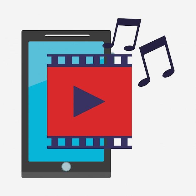 Aplicativo móvel para smartphones Vetor Premium