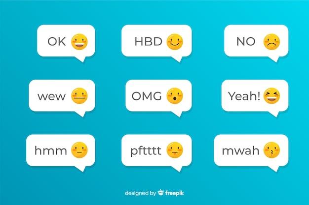 Aplicativo social para mensagens de texto com emojis Vetor grátis