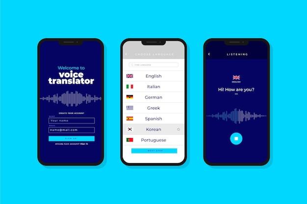 Aplicativo tradutor de voz Vetor grátis
