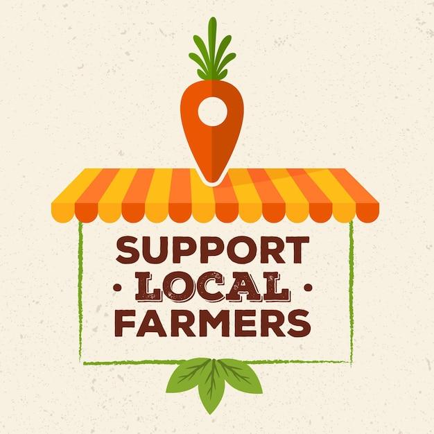 Apoie o conceito ilustrado de agricultores locais Vetor grátis