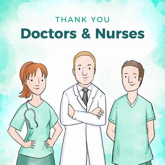 Apreciação de profissionais médicos Vetor grátis