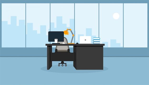 Aprendizagem e ensino no escritório para trabalhar usando uma ilustração em vetor de programa de design Vetor Premium