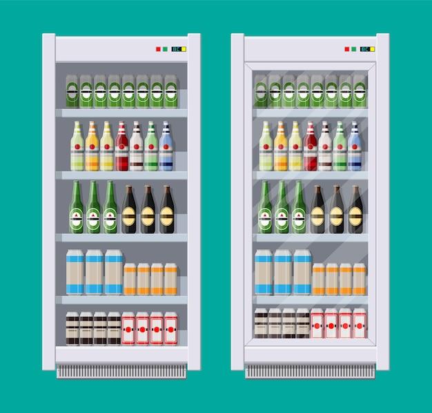 Apresenta geladeiras para refrigerantes Vetor Premium