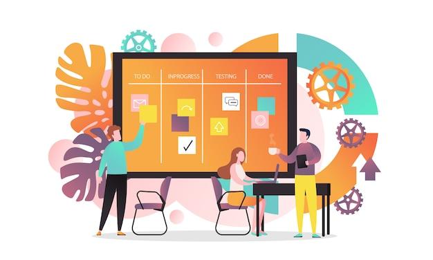 Apresentação com painel de negócios Vetor Premium