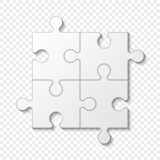 Apresentação de negócios de peça de quebra-cabeça Vetor Premium
