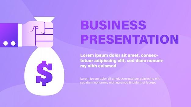 Apresentação de negócios Vetor Premium