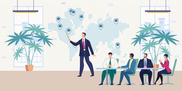 Apresentação para o conceito de vetor de parceiros de negócios Vetor Premium