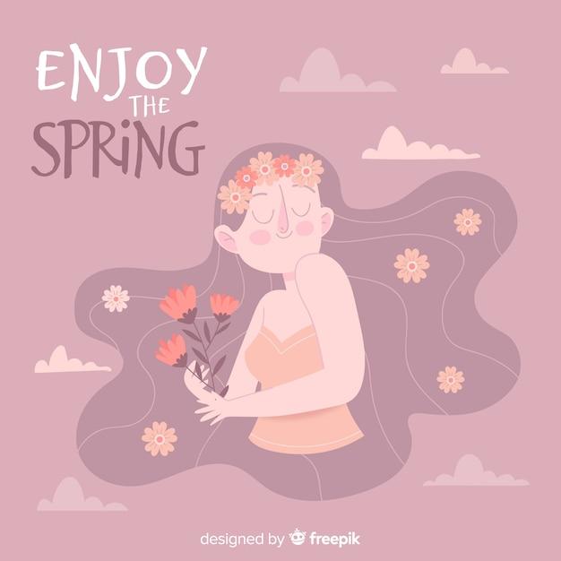 Aproveite a primavera Vetor grátis