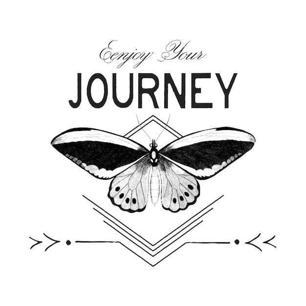 Aproveite seu vetor de design de logotipo de viagem Vetor grátis
