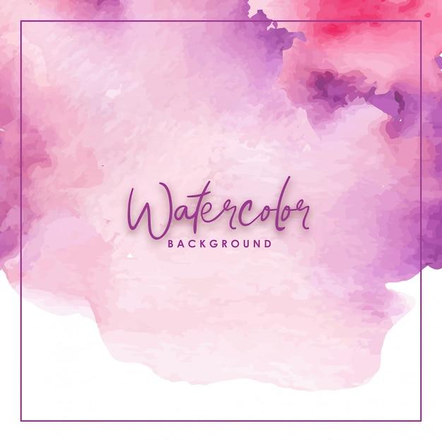 Aquarela artesanal gradiente de respingo rosa e roxo Vetor Premium