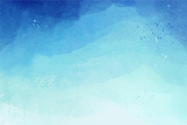 Aquarela cópia espaço fundo gradiente azul Vetor grátis