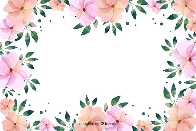 Aquarela de fundo de quadro botânico Vetor grátis
