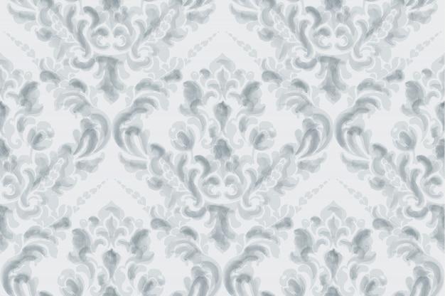 Aquarela de padrão clássico ornamento elegante. texturas de cores delicadas azuis Vetor Premium