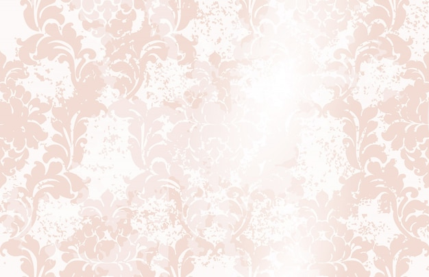 Aquarela de padrão clássico ornamento elegante. texturas de cores delicadas rosa Vetor Premium