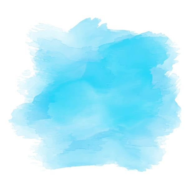 Aquarela em tons de azul Vetor grátis