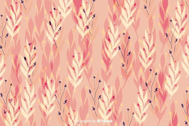 Aquarela floral rosa fundo sem emenda Vetor grátis