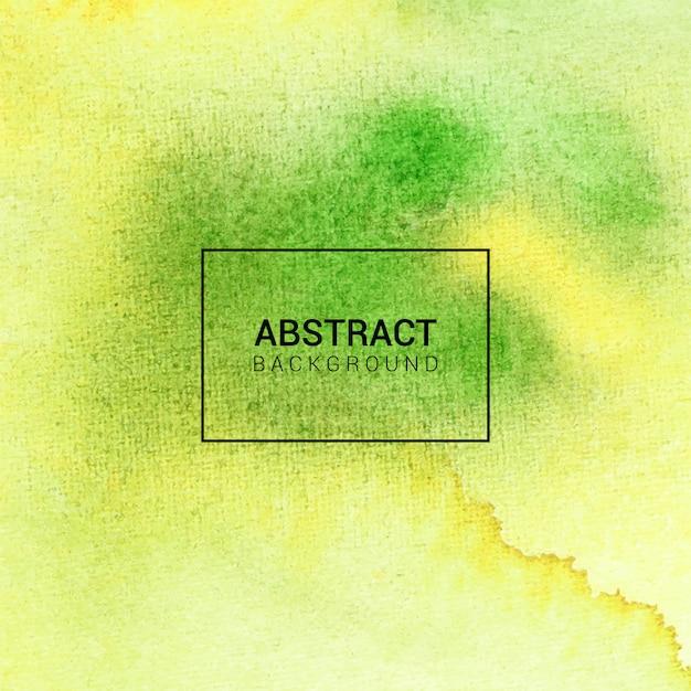 Aquarela textura abstrata de fundo verde e amarelo Vetor Premium
