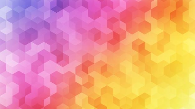 Arco-íris colorido cubo abstrato Vetor Premium