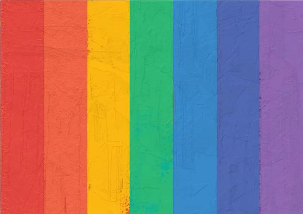 Arco-íris colorido da pintura abstrata listrado. Vetor Premium
