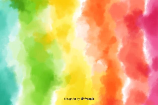 Arco-íris de fundo no estilo tie-dye Vetor grátis