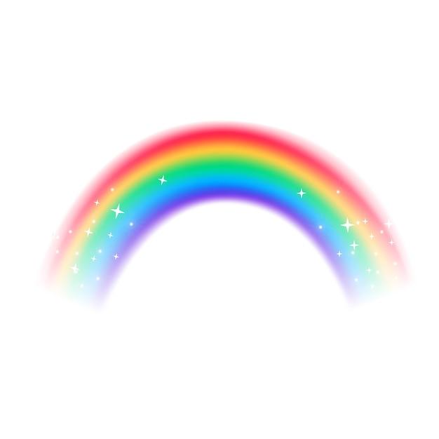 Arco-íris design realista Vetor grátis