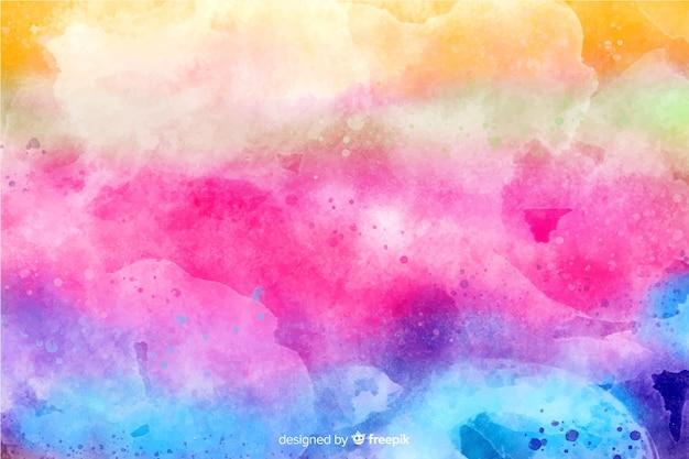 Arco-íris em estilo tie-dye de fundo Vetor Premium