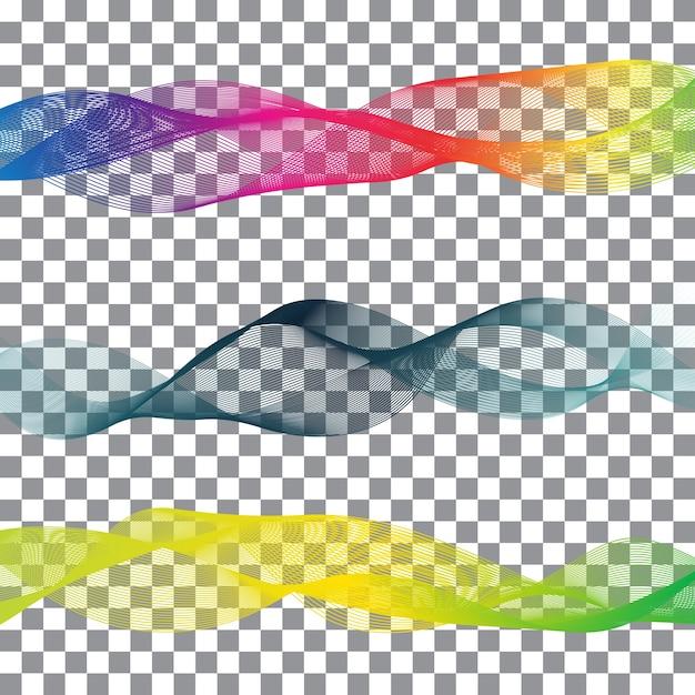 Arco íris, fita, abstratos, formas, branca, fundo Vetor grátis