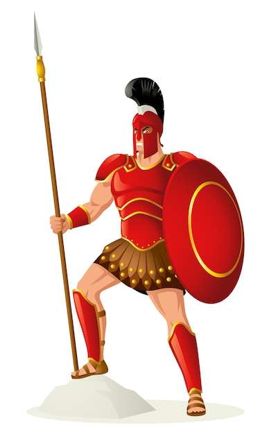 Ares o deus da guerra Vetor Premium
