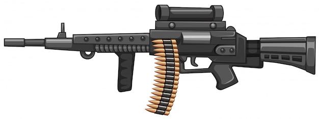 Arma de fuzil com balas Vetor grátis