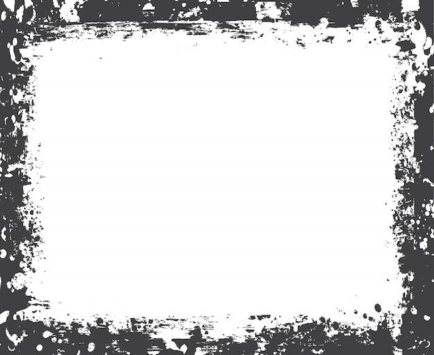 Armação de borda grunge Vetor Premium