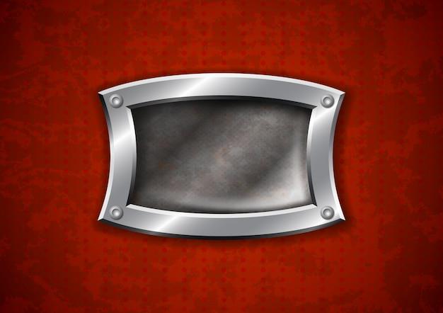 Armação de metal enferrujada velha Vetor Premium