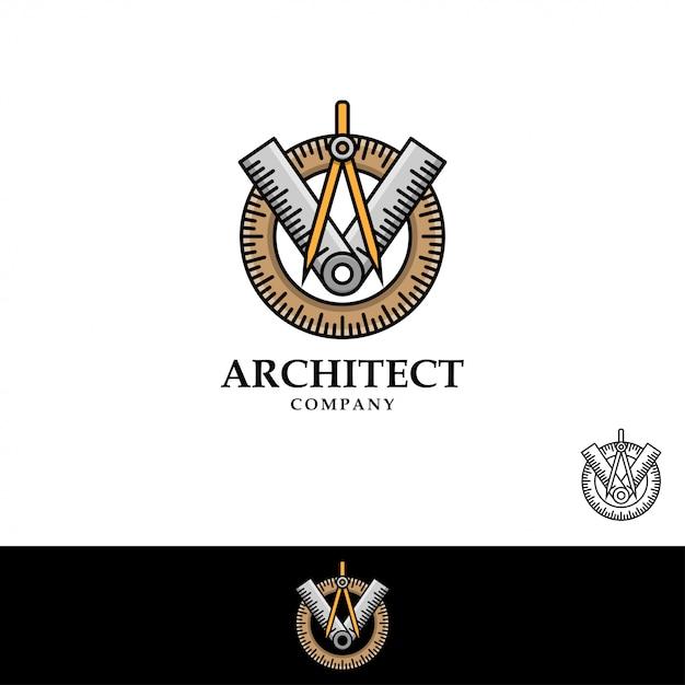 Arquiteto logo vector illustration Vetor Premium